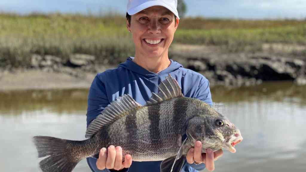 a fisherman with a blackdrum